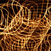 Camera motion creating a light pattern.